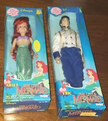 New Tyco The Little Mermaid Vintage 1990s In Box Disney Ariel And Eric 1801 And 1808
