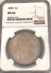 Wow__1899- Ngc Ms-66 U.s. Morgan Silver Dollar Key Date Only 330000 Minted