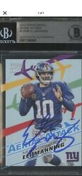 2013 Topps Magic Aerial Attack Eli Manning Signed Auto Giants Bgs Bas Authentic