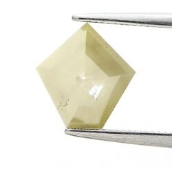 Rustic Real Natural Diamond 1.80ct Yellow Sparkling Antique Rose Cut For Gift
