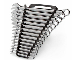 Tekton 18772 Polished Combination Wrench Set Inch 1/4-inch - 1-inch 15 Pc