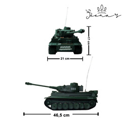 Remote Control German Tiger Tank With 14 Channels Scale 1 18