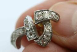 Finest Antique Art Deco 18ct White Gold And Old Cut Diamond Earrings 1.05 Carat
