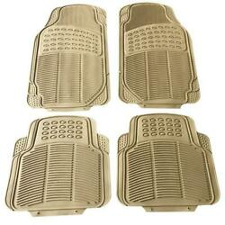 Car Floor Mats For All Weather Rubber 4pc Set Tactical Fit Heavy Duty Beige Usa