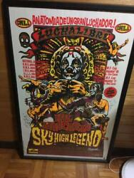Used Rockinand039 Jelly Bean Mil Mandaacutescaras Poster Silk Screen 97 X 62 With Flame O