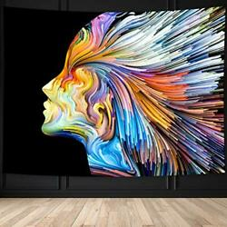NEW Large Psychedelic Tapestry Trippy Hippie Wall Art Blanket for College Dorm