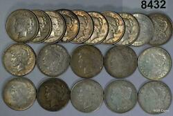 1921 Morgan And Peace 90 Silver Dollar Mixed Roll Some Culls 8432