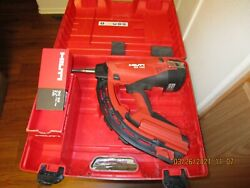 Hilti Gx 120 Fully Automatic Gas-actuated Fastening Tool W/nail And Gas Can 999