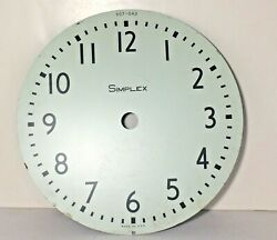 Vintage 9 3/8 Simplex Wall Clock Metal Face Dial 507-042 Stainless Steel Usa