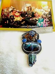 Amy Kahn Russell One Of A Kind Boulder Opal Fish S/s Pin/pendant