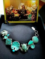 Amy Kahn Russell One Of A Kind Chrysoprase,turquoise And Peridot Bracelet