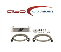 Mishimoto Universal 10 Row Oil Cooler Kit - Silver Thermostatic Mmoc-ut