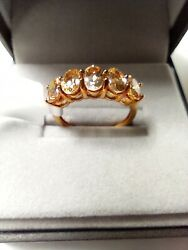Ouro Preto Imperial Topaz 9k Gold Ring 2.54cts + Tag Size 7 Uk N-o Free Delivery