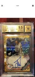 2019 Bowman Chrome Dom Thompson-williams Auto Gold Shimmer Refractor /50 Bgs 9.5