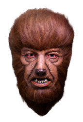 Wolfman Mask Universal Classic Movie Monsters Lon Chaney Latex Mask W/ Hair