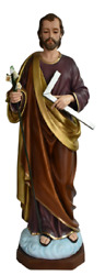 Saint Joseph The Worker Catholic Religious 48 Inch Large Colored Resin Statue
