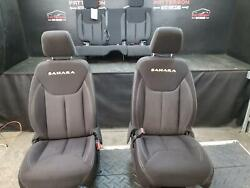 2014 Jeep Wrangler Lh And Rh Front And Rear Seat Set Sahara Cloth Trim Code A7x9