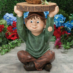 Bedraggled Garden Elf Home Side Planter Accent Table