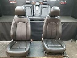 2013 Lincoln Mkz Lh And Rh Front Power And Rear Leather Seat Set Black Trim Code Gw