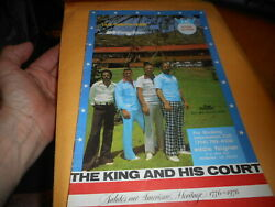 The King And His Court Softball Offical Souvenir 1976 Eddie Feigner Book Vintage