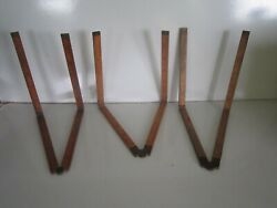 Vintage 3 Stanley 62-63 Cs Co. 68 Boxwood Arch Brass Jointed 2and039 Wooden Rulers