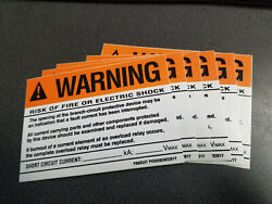 Panduit Pvs0305w2201y Vinyl Warning Header And039risk Of Fire Or Electric Shock 6pk