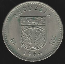 1964 Rhodesia 10 Cents Coin   World Coins   Pennies2pounds