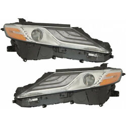 For Toyota Camry Hybrid Headlight 2018 Pair Driver And Passenger Side Capa