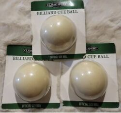 3pk Classic Sport Billiard Cue Ball Official Size Ball 2.25 White - Pool Table