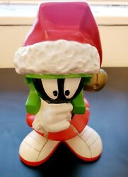 Extremely Rare Looney Tunes Marvin The Martian Standing Figurine Peace On Earth