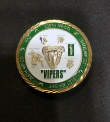 Rare Us Army 519th Military Police Battalion Vipers Excellence Challenge Coin