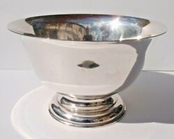 Antique Stieff Footed Sterling Silver Centerpiece Punch Bowl Paul Revere_13 Dia