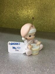 Precious Moments Ornament Babys 1st First Christmas 1991 Playing Drum - No Box
