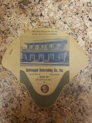 Schroeppel Undertaking Funeral Home Advertising Fan From Collinsville Il Lot 2