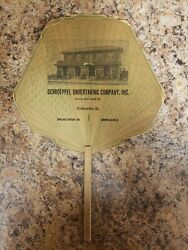 Schroeppel Undertaking Funeral Home Advertising Fan From Collinsville Il Lot 1