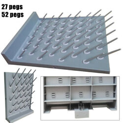 27/52pegs Wall Mount Lab Drying Rack Draining Peg Board For Tube Flask Glassware