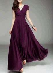 Women Formal Bridesmaid Evening Cocktail Wedding Gown Party Prom Long Maxi Dress $21.54