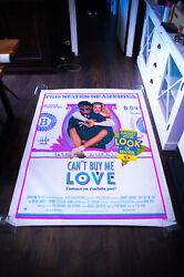 Can't Buy Me Love 4x6 Ft Bus Shelter Movie Poster Original 1987
