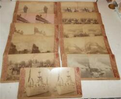 Vintage Montgomery Ward Co. U.s. Navy Military Stereoviews Cards Lot Of 11