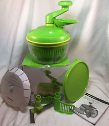 Tupperware Quick Chef Pro System Time Saver Chopper Blade Whisk Basket, Green