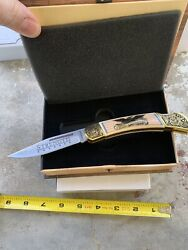 """Falkner American Virtues """"strength"""" Collector's Edition Stainless Steel Knife"""