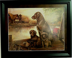 Lab Dog Picture Chocolate Lab Dog Lab Puppies Ruane Manning Matted Framed 16x20