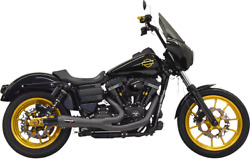 Bassani Black Ripper 2-into-1 Exhaust System For 2006-2017 Harley Dyna Fxd 1d6b
