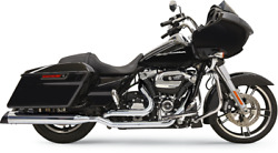 Bassani Chrome True-duals Down Under Header Pipes 2017+ Harley Touring M8 11515a