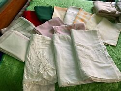 Vintage Assorted Lot Of 14 Tablecloths From 1950-80 All Sizes Med.- Large 3