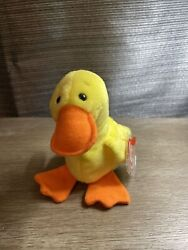Rare Retired Quackers 1993 Ty Beanie Baby With Tag Errors