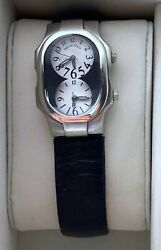 Philip Stein Signature Ladies Dual Time Zone Wrist Watch Nature Frequency Tech