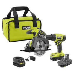 18-volt One+ Lithium-ion Cordless 2-tool Combo Kit W/ Drill/driver Circular Saw