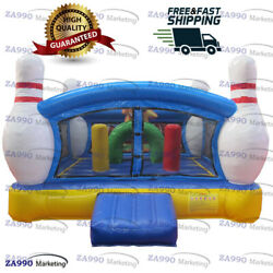 13x13ft Commercial Inflatable Bowling Bounce House With Air Blower