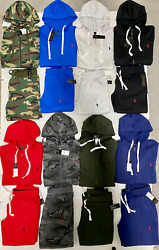 Polo Top And Bottom Sweat Suit Zip Up Hoodie Complete Set Brand New